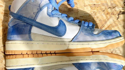Carpet Company x Nike Dunk High White Royal Pulse First Look Side