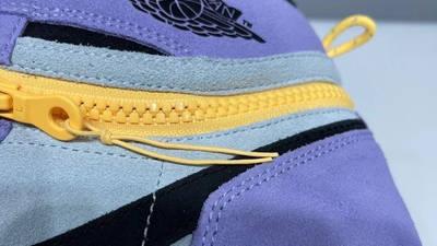 Jordan 1 Switch Purple Pulse Closeup