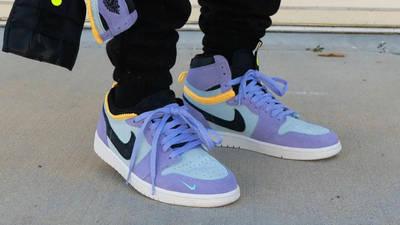 Jordan 1 Switch Purple Pulse On Foot Front Side