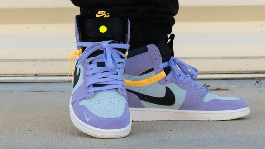 Jordan 1 Switch Purple Pulse On Foot Front