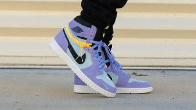 Jordan 1 Switch Purple Pulse On Foot Side