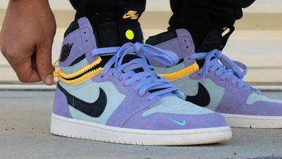 Jordan 1 Switch Purple Pulse On Foot