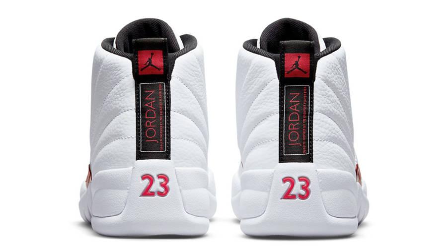 Jordan 12 Twist White University Red Back