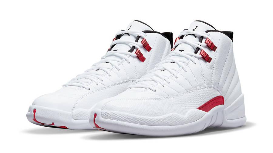 Jordan 12 Twist White University Red Front