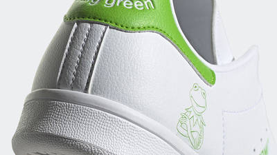 Kermit the Frog x adidas Stan Smith White Lime Green Back Closeup