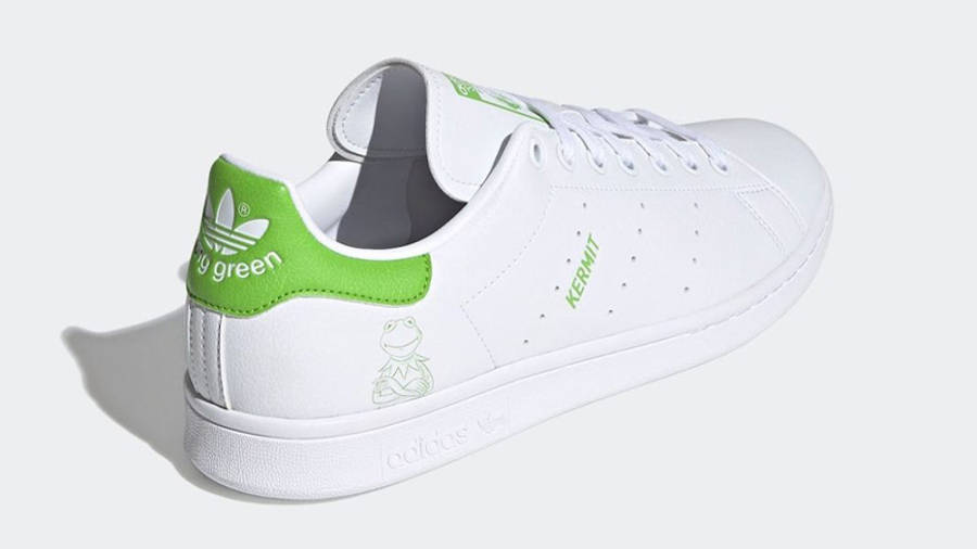 Kermit the Frog x adidas Stan Smith White Lime Green Back