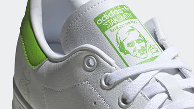 Kermit the Frog x adidas Stan Smith White Lime Green Closeup