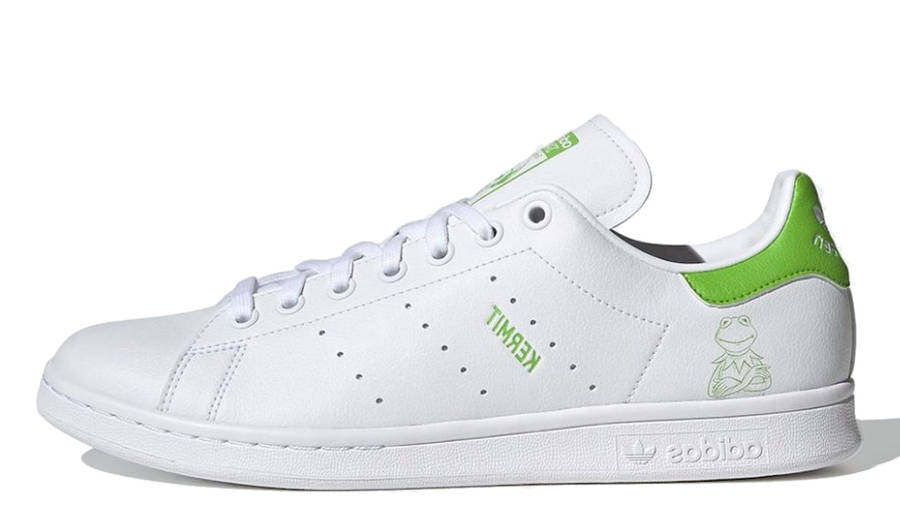 Kermit the Frog x adidas Stan Smith White Lime Green