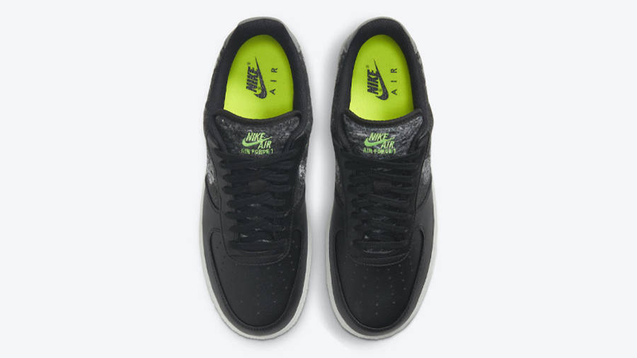 Nike Air Force 1 07 LV8 Recycled Black Electric Green Middle
