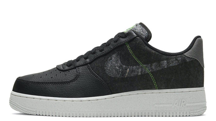 Nike Air Force 1 07 LV8 Recycled Black Electric Green