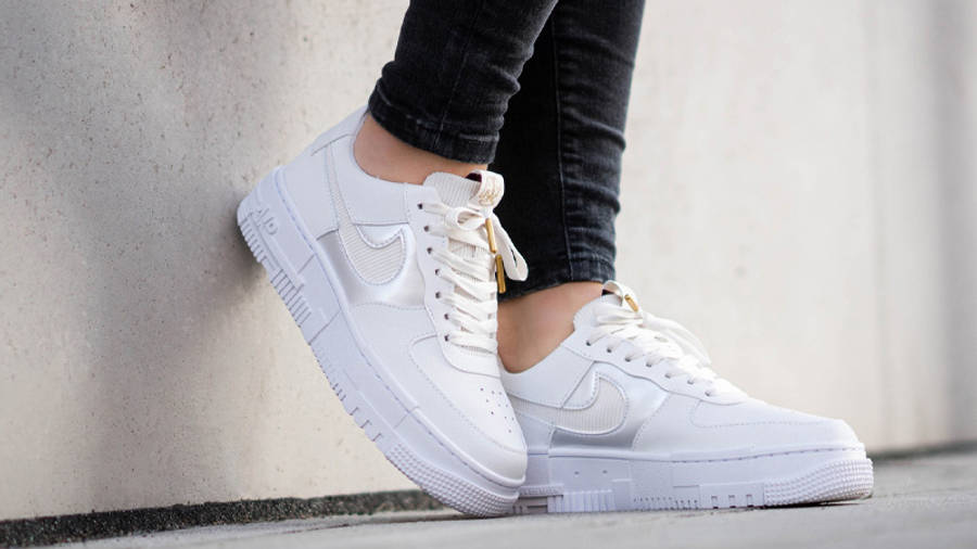 Nike Air Force 1 Pixel Grey Gold Chain | Where To Buy | DC1160-100 ...