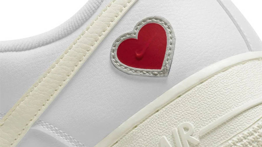 Nike Air Force 1 Valentine's Day 2021 Closeup