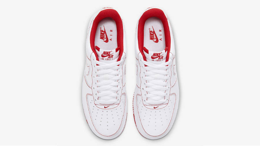 Nike Air Force 1 White University Red Stitch | Where To Buy ...