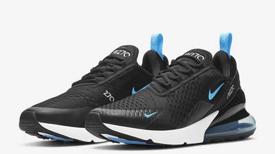 Nike Air Max 270 Black Light Blue Fury Front