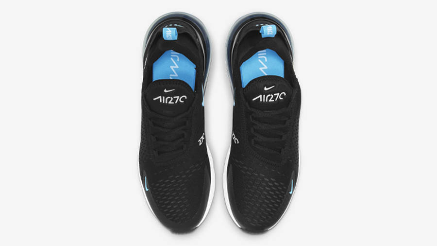 Nike Air Max 270 Black Light Blue Fury Middle