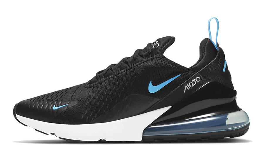 Nike Air Max 270 Black Light Blue Fury