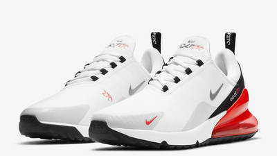 Nike Air Max 270 Golf White Black Red Front