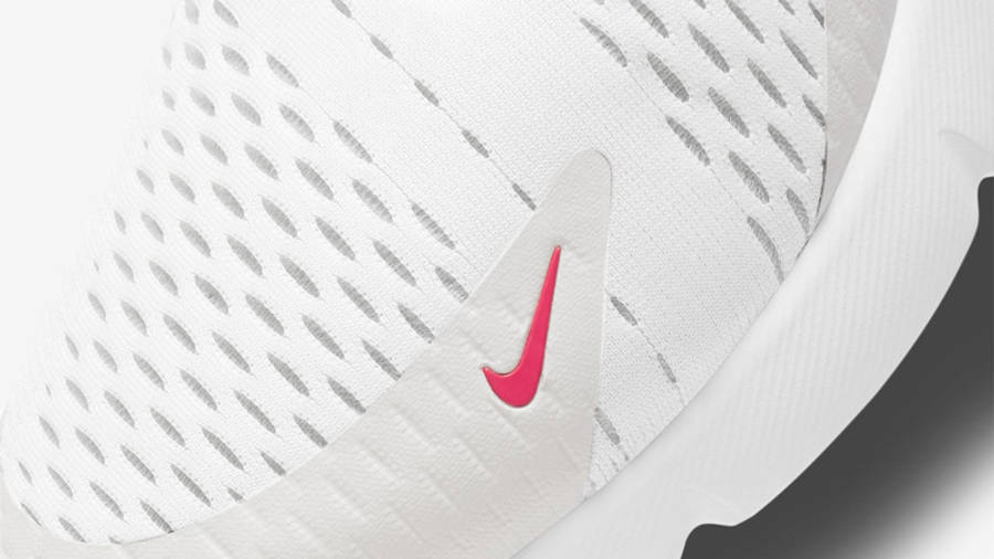 Nike Air Max 270 White Laser Fuchsia Closeup
