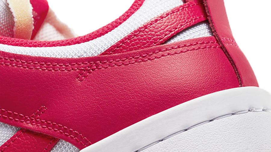 Nike Dunk Low Disrupt Siren Red White Closeup