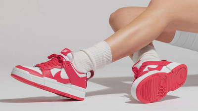 Nike Dunk Low Disrupt Siren Red White On Foot