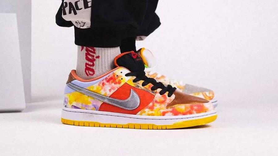 Nike SB Dunk Low Street Hawker On Foot Side