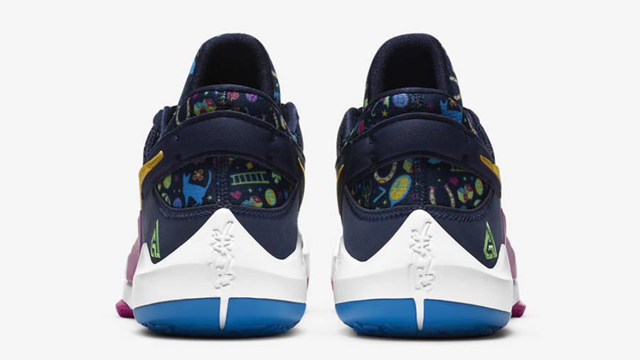 Nike Zoom Freak 2 Midnight Navy Back