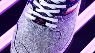 adidas ZX 8000 Vieux Lyons Silver Metallic Semi Solar Pink Lifestyle Closeup