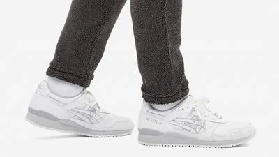 ASICS Gel-Lyte 3 White Light Grey On Foot