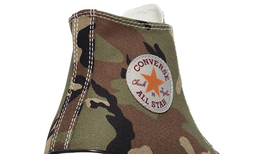 Carhartt WIP x Converse Chuck 70 Hi Covert Green Closeup