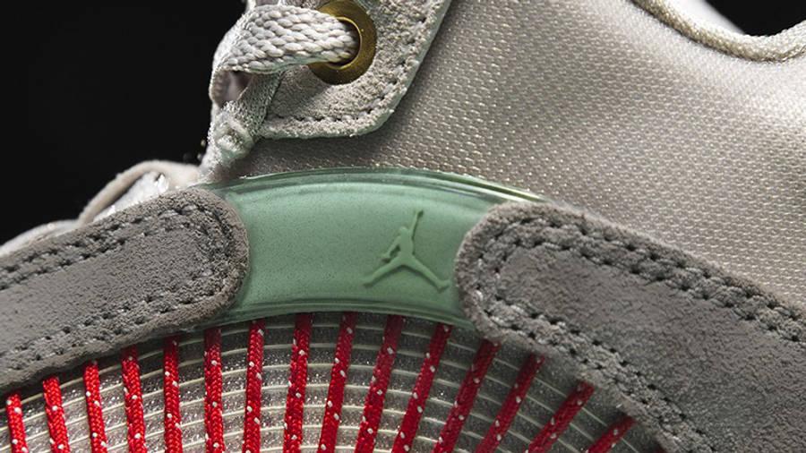 CLOT x Jordan Retro 35 SP Warrior Jade Closeup