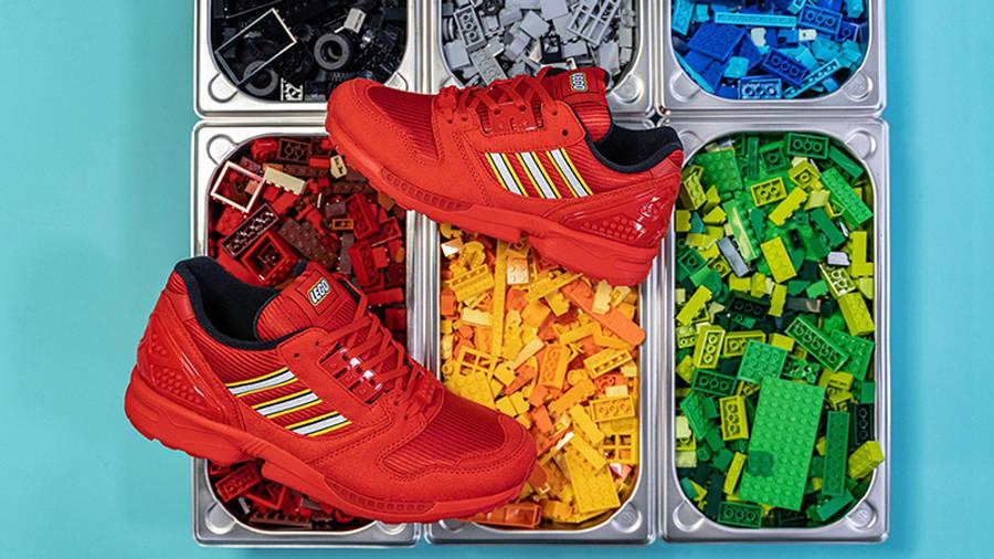 LEGO x adidas ZX 8000 Black Red Lifestyle