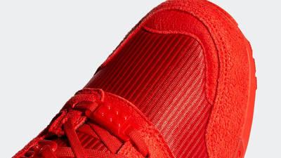 LEGO x adidas ZX 8000 Red Closeup
