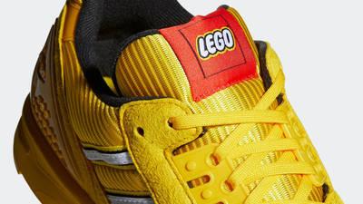 LEGO x adidas ZX 8000 Yellow White Closeup