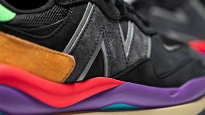 New Balance 5740 Black Multi Closeup