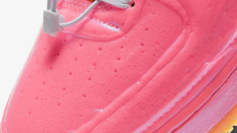 Nike Air Force 1 Experimental Pink Closeup