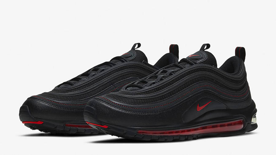 Nike Air Max 97 Black Smoke Grey Red DH4092-001 front
