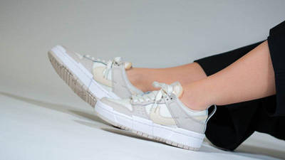 Nike Dunk Low Disrupt Sail Pearl White On Foot