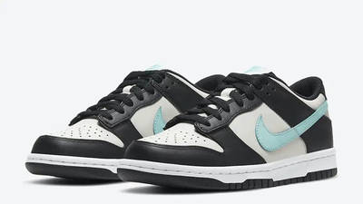 Nike Dunk Low GS Black Tiffany Blue CW1590-003 front