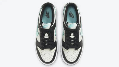 Nike Dunk Low GS Black Tiffany Blue CW1590-003 middle