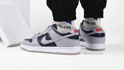 Nike Dunk Low SP College Navy On Foot Back