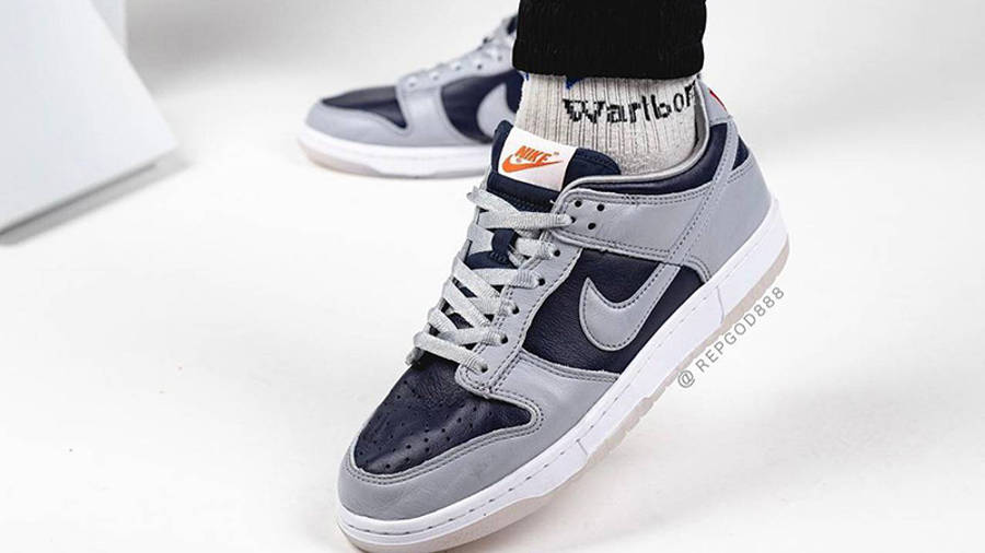 Nike Dunk Low SP College Navy On Foot Front