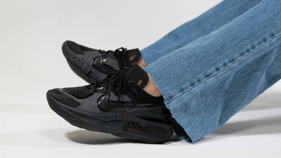 Nike Fontanka Edge Triple Black On Foot