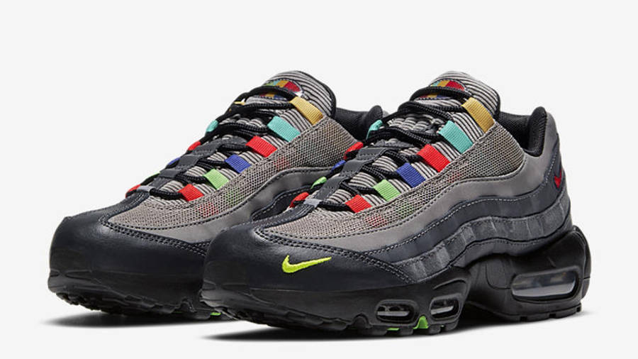 Nike Air Max 95 Essential Light Charcoal Red Black Front