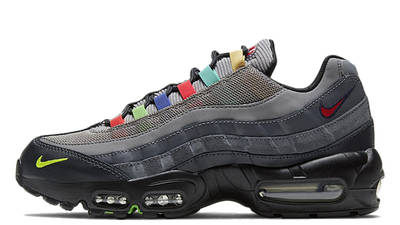 Nike Air Max 95 Essential Light Charcoal Red Black