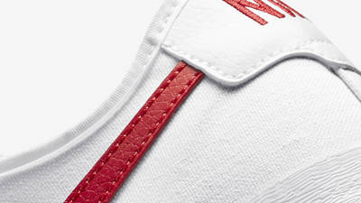 Nike SB Blazer Coat White University Red Closeup