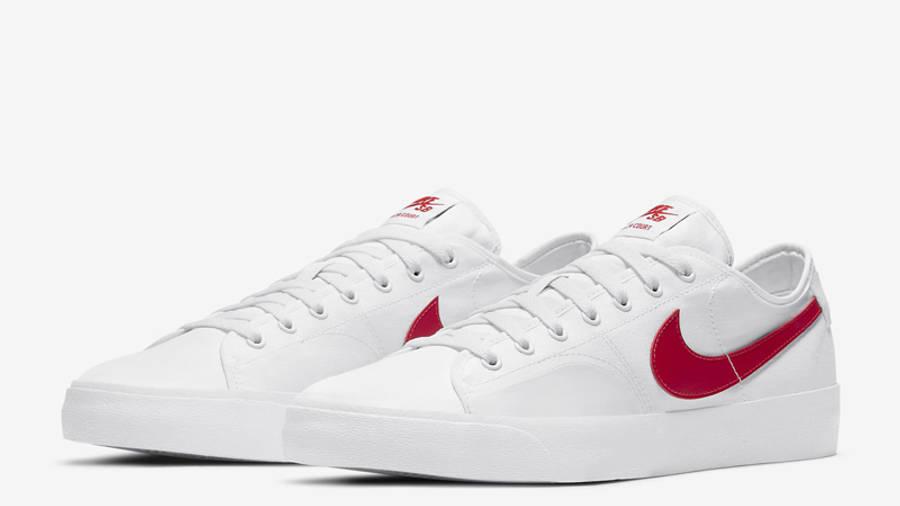 Nike SB Blazer Coat White University Red Front
