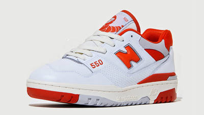 size? x New Balance 550 White Red Front