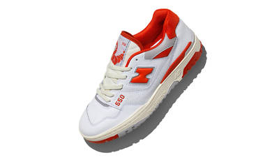 size? x New Balance 550 White Red Top