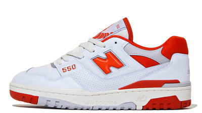 size? x New Balance 550 White Red