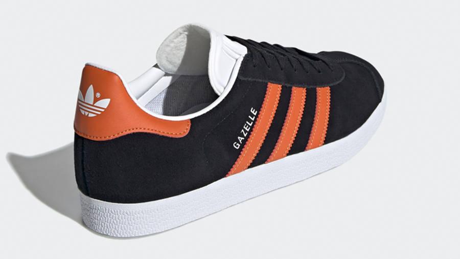 adidas Gazelle Core Black Orange Back